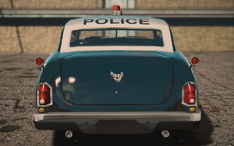 Saints Row IV variants - Gunslinger Police - rear