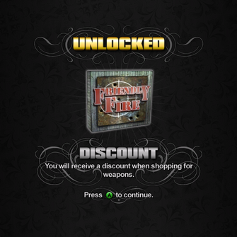 Saints Row unlockable - Discounts - 50% off Weapons