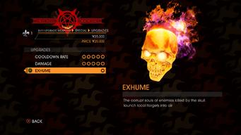 Skull - Exhume description