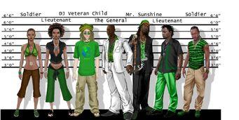 Sons of Samedi Concept Art - police lineup