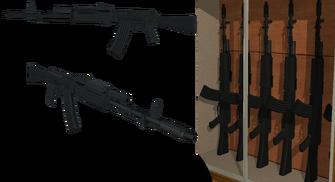 AK-74 model in Friendly Fire