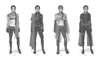 Asha Odekar Concept Art - four versions