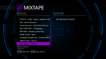 Mad Decent 106.9 Saints Row IV tracklist - bottom