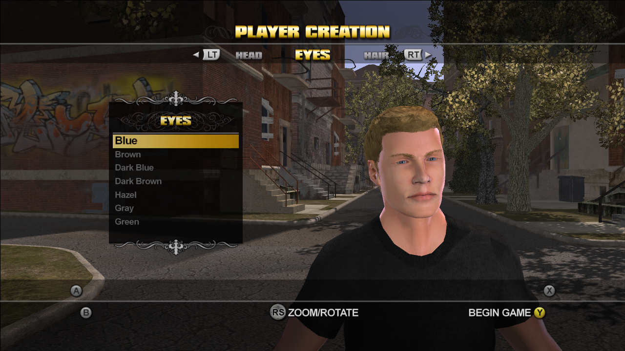 Character customization in Saints Row.