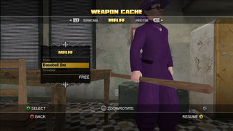 Saints Row Weapon Cache - Melee - Baseball Bat