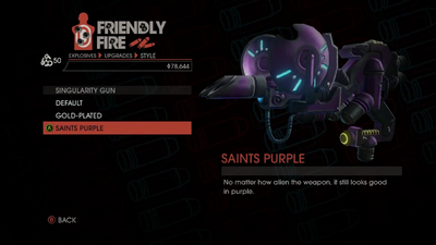 Weapon - Explosives - Black Hole Launcher - Singularity Gun - Saints Purple