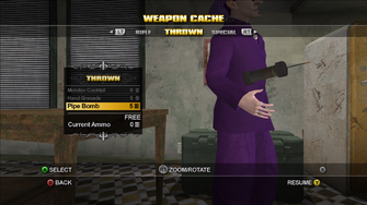 Saints Row Weapon Cache - Thrown - Pipe Bomb flip