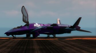 Saints VTOL - front left on helipad in Saints Row The Third