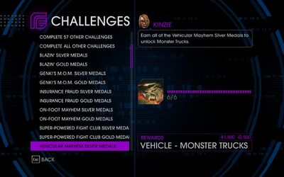 Challenge 20 Vehicular Mayhem Silver Medals
