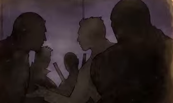 Gat out of Hell cutscene - Jyunichi, Kazuo, Shogo, Sharp, Killbane shadowy figures