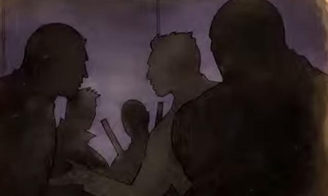 File:Gat out of Hell cutscene - Jyunichi, Kazuo, Shogo, Sharp, Killbane shadowy figures.png