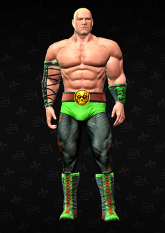 Killbane wrestling unmasked - character model in Saints Row The Third