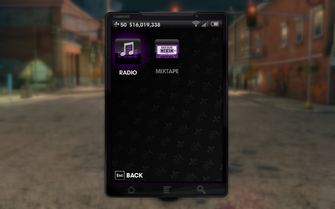 Saints Row The Third radio stations phone menu