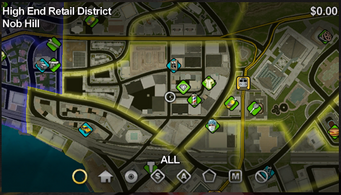Nob Hill map in Saints Row