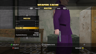 GDHC .50 Pistol in the Weapons Cache in Saints Row