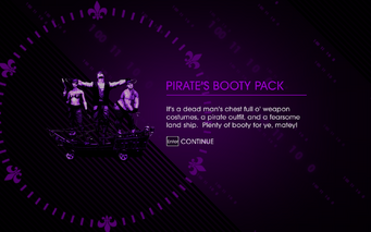 Saints Row IV Pirate's Booty Pack unlock screen