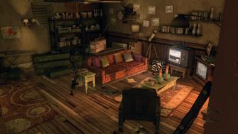 Shaundi's Loft - living room from kitchen