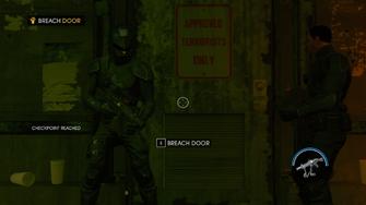 Zero Saints Thirty - Breach Door objective