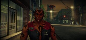 Brotherhood member close up in Saints Row IV