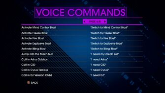 Voice Commands Page 6 - Saints Row IV Re-Elected