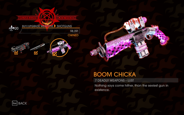 Gat out of Hell - 7 Deadly Weapons - Lust