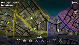 Rebadeaux map in Saints Row