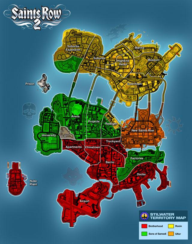 Saints Row 2 Map Stilwater | Saints Row Wiki | FANDOM powered by Wikia