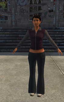Chop Shop - Jenny - alternate with black hair - character model in Saints Row