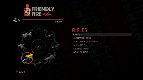 Weapon - Rifles - Menu