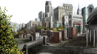 Stilwater - early Concept Art of Downtown district