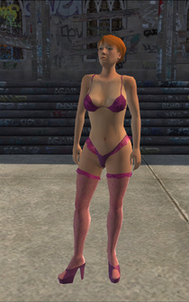 Stripper - White - bikini - character model in Saints Row