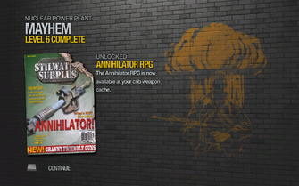 Annihilator RPG - Saints Row 2 unlock screen