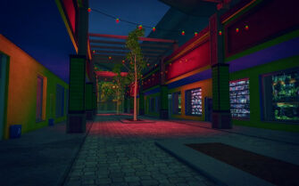 Ezpata in Saints Row 2 - street at night