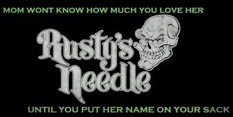 Rusty's needle SRTT sign