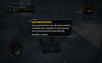 Unlockable Rewards tutorial in Saints Row 2