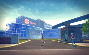 Athos Bay in Saints Row 2 - St Matthew's Hospital