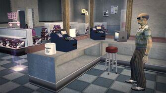Brown Baggers Rebadeaux interior behind register
