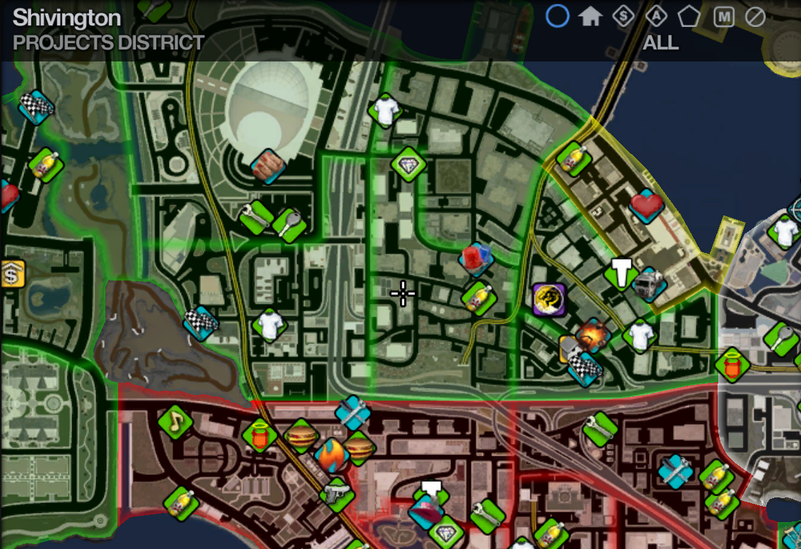 Map in Saints Row 2 Projects