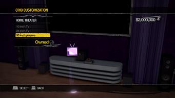 Penthouse Loft - Crib Customization - Home Theater - 50 inch plasma