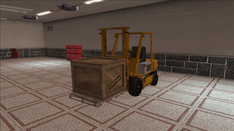 Saints Row variants - Forklift - industrial with crate - front left