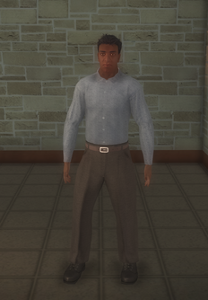 Business male - black generic - character model in Saints Row 2