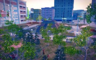 Encanto in Saints Row 2 - Park aerial view