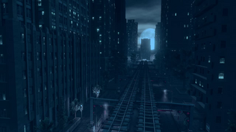 Saints Row IV Main Menu background - train tracks