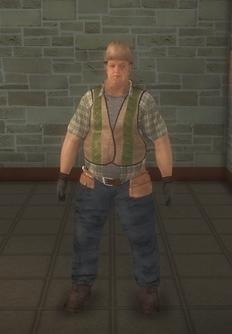 Construction - white road - character model in Saints Row 2