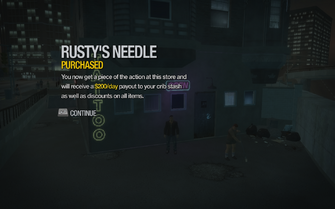 Rusty's Needle in Filmore purchased in Saints Row 2