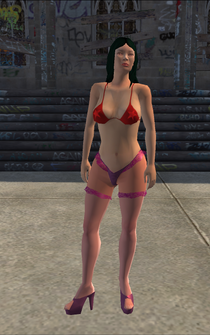 Stripper - Asian - bikini - character model in Saints Row