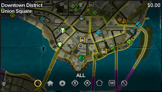 Union Square map in Saints Row
