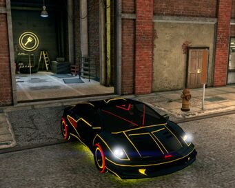 Wraith - front right with lights in Saints Row The Third