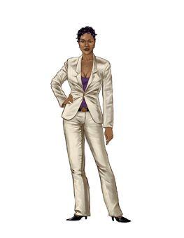 Aisha Saints Row 2 Concept Art 02 - Finalized design