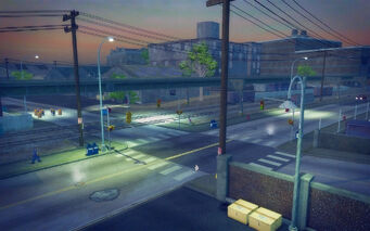 Charlestown in Saints Row 2 - intersection